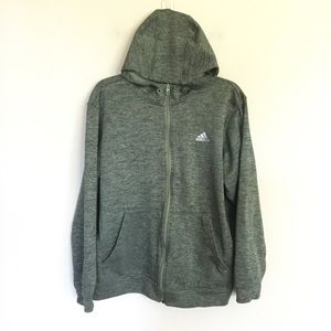ADIDAS Climawarm Fleece Lined Zip Hoodie Jacket